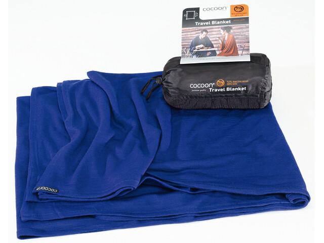 Cocoon Travel Blanket - Merino Wool/Silk bleu
